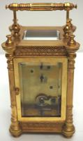 Fine Antique French 8-day Fleur De Lis Decorated Panel 8-day Carriage Clock Timepiece c.1890 (7 of 10)