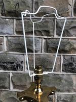 English Brass Corinthian Column Standard Lamp (7 of 8)