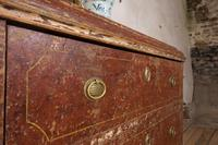 18th Century Gustavian Original Painted Commode - Red (8 of 15)