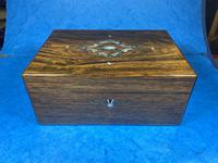 Victorian Rosewood Jewellery Box with Inlay (14 of 14)