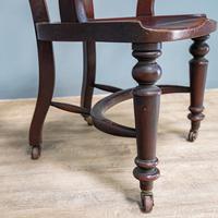 19th Century Mahogany Office Chair (4 of 8)