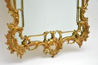 Large Antique Chippendale Style Gilt Brass Mirror (4 of 12)