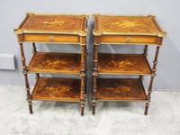 Pair of Victorian Marquetry Burr Walnut Etageres (4 of 12)
