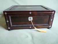 Inlaid Rosewood Jewellery Box c.1835 (4 of 10)