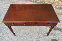 Antique Victorian Mahogany Two Drawer Side Table (18 of 20)