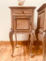 French Antique Bedside Tables / Marble Bedside Cabinets / Louis XV Nightstands (4 of 10)