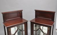 Pair of Early 20th Century Mahogany Display Cabinets (8 of 9)