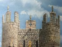 """Fine Oil Painting Architectural Entrance """"Micklegate Bar"""" York Signed F Chilton (4 of 31)"""