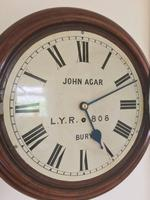 Eight Day Rare High Quality Lancs / Yorks Railway Clock (11 of 12)
