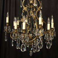 French Bronze 12 Light Antique Chandelier (2 of 10)