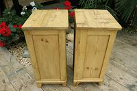 Quality Pair of Old Stripped Pine Bedside Cabinets (7 of 9)
