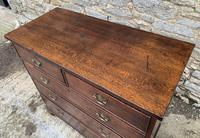 Antique Oak Chest of Drawers with Crossbanded Edge (12 of 17)