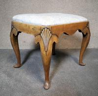 Queen Anne Style Walnut Stool c.1920 (6 of 10)