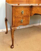 Antique Burr Walnut, Triple Mirror Shaped Dressing Table (8 of 12)