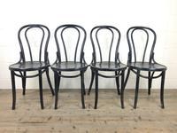 Set of Four Ebonised Bentwood Café Chairs (13 of 14)