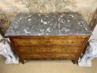 19th Century Burr Walnut Commode with Grey Marble Top (3 of 4)