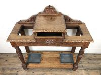 Antique Victorian Carved Oak Hall Stand (12 of 14)
