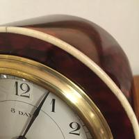 Faux Tortoiseshell Art Deco Mantel Clock (2 of 7)