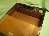 Quality Fully Brass Bound Rosewood Writing Box. Many Features. C1875 (7 of 16)