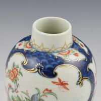First Period Worcester Blue Scale & Kakiemon Tea Canister / Caddy (10 of 11)