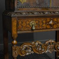 Late Victorian Leather Bound Cupboard on Stand (10 of 10)