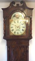 Fine English Longcase Clock D Cowed Manchester 8-day Striking Grandfather Clock Solid Mahogany Case (6 of 19)