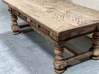 Rustic French Bleached Oak Coffee Table with 2 Drawers (7 of 19)