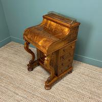 Sensational Victorian Burr Walnut Piano Top Antique Davenport Desk (7 of 10)