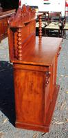 1900's Carved Mahogany 2 Door Chiffonier with Back (3 of 4)