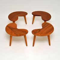 Pair of Vintage Walnut Kidney  Side  Tables (8 of 9)