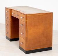 Blonde Oak Art Deco Desk (7 of 9)