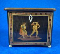 Mid Victorian Sorento Ware Inlaid Single Tea Caddy (6 of 7)