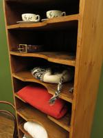 Antique Narrow Pine Pigeon Holes, Stationery or Haberdashery Display Shelves (7 of 10)