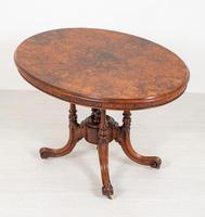 Pretty Victorian Burr Walnut Centre Table (7 of 9)