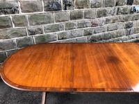 Antique 9ft Mahogany Twin Pillar Extending Dining Table (6 of 11)