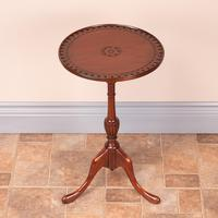 Mahogany Carved Top Wine Table (4 of 6)