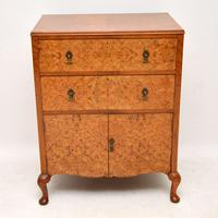 Antique Burr Walnut  Chest on Cabinet (2 of 12)