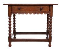Georgian and Later Oak Writing Side Occasional Table with Drawer c.1800 (3 of 9)