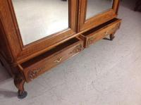 Carved Oak 2 Door  Armoire (3 of 9)