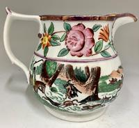 Antique Staffordshire Pottery Jug Country Sporting Pursuits c.1850 (4 of 9)