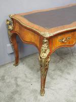Large French Walnut Bureau Plat / Writing Table (4 of 16)