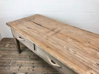 Early 20th Century Antique Oak & Pine Work Table (9 of 15)