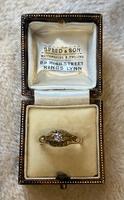 18ct. Yellow Gold Single Diamond Ring 1903 (2 of 6)
