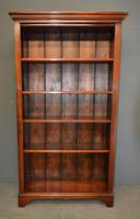 Victorian Mahogany Open Bookcase (4 of 4)