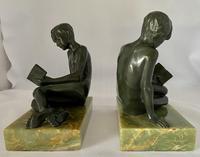 Art Deco Bronze Bookends c.1930 (4 of 8)