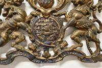 Wall Hanging Victorian Cast Iron Royal Coat of Arms Shield Plaque (2 of 7)