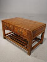 Neat Mid 19th Century Two Drawer Low Table (8 of 9)