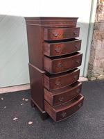 Antique Slim Mahogany Chest on Chest (4 of 7)