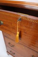 Tall Edwardian Mahogany & Inlaid Chest of Drawers (13 of 13)