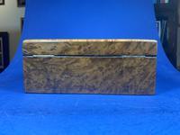 19th Century French Burr Cedar Inlaid Box (3 of 11)